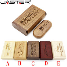 JASTER (OVER 10 PCS LOGOTIPO livre) unidade flash usb + caixa de madeira usb pendrive 4 gb 8 gb gb gb 64 32 16 gb memory stick fotografia presentes(China)