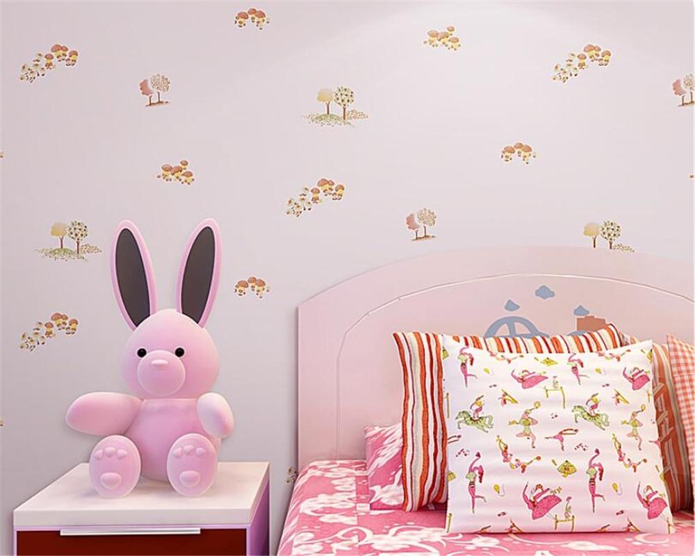 bedroom cartoon mushroom background boy non woven children wallpapers beibehang 3d