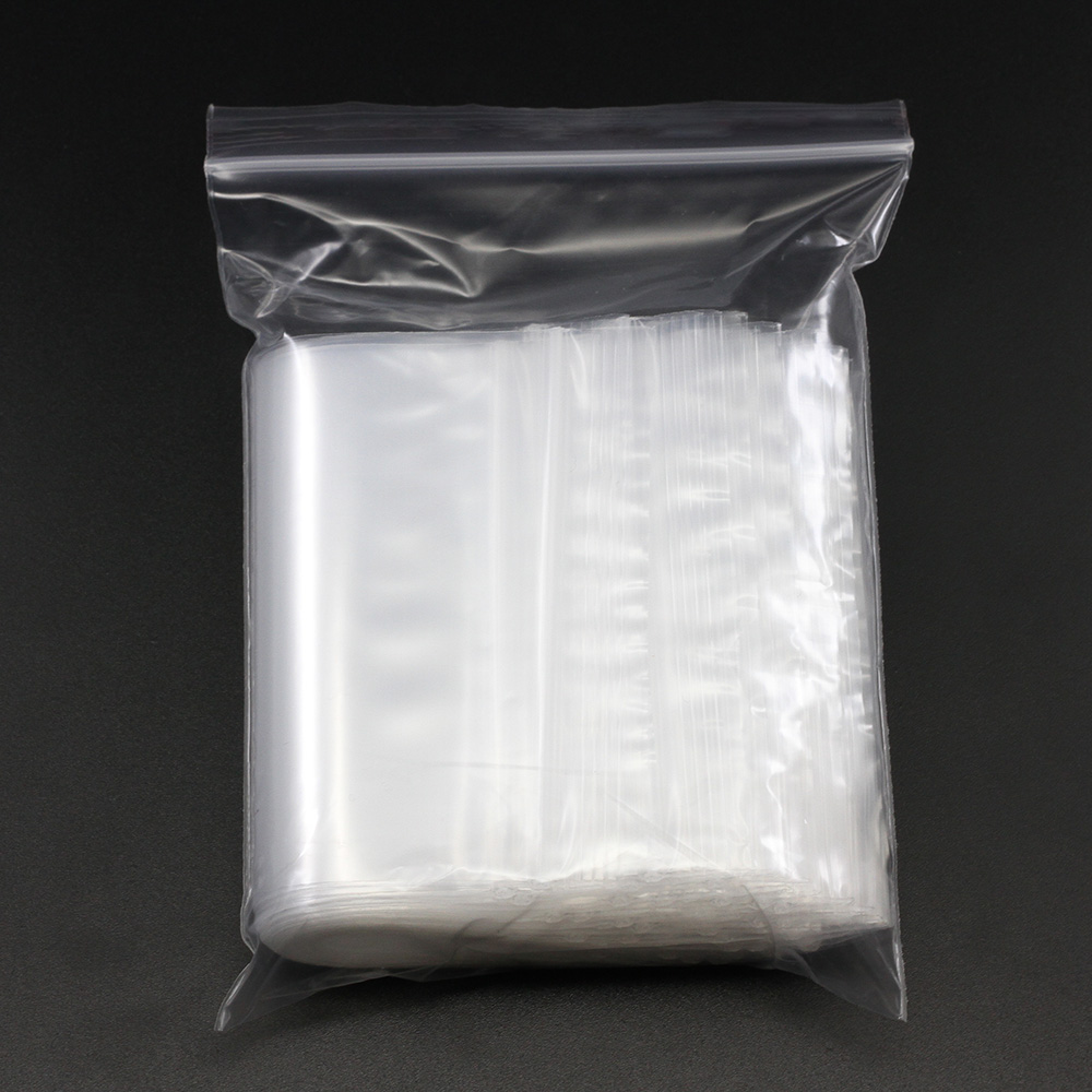 100pcs/pack 4*6/5*7/6*8/7*10 Bulk Thick Jewelry Packaging Pack Zip lock Zipped Lock Reclosable Plastic Clear Poly Bag Gift