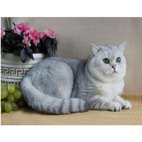 New Trendy Full Drill 5D Diamond Mosaic Rhinestones Embroidery Flowers DIY Diamond Painting Decoration Animals Cat