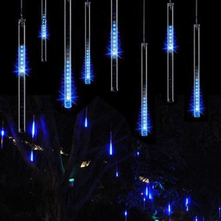 30 см метеоритный дождь трубы свет для Рождество Свадебные украшения сада 100-240 В/EU синий