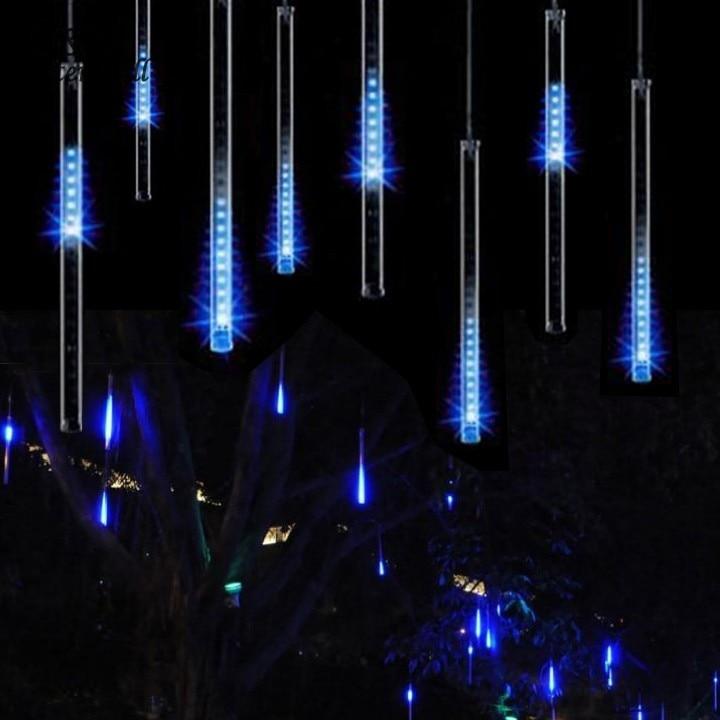 30CM Meteor Shower Rain Tubes LED Light For Christmas Wedding Garden Decoration 100-240V/EU Blue