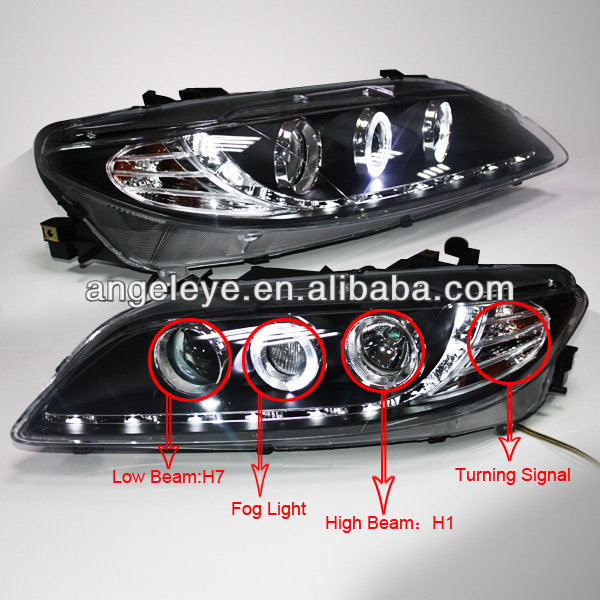 2004-2011 year for MAZDA 6 M6 LED Head Lights with Projector Lens SN 6 44 2011