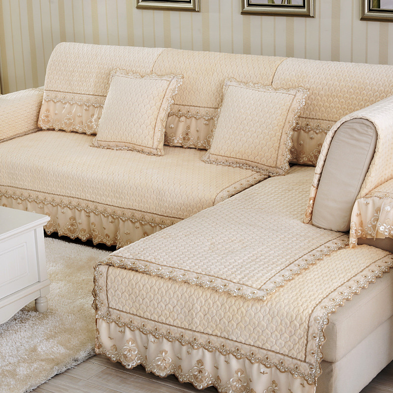 Plush sofa covers fabric sofas for Canape sofa cover