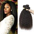 Адина 7А Необработанные Бразильский Kinky Прямая Девы Волос 5 Пучки Волос Продукта Толщиной Полный Волосы на Голове Натуральных Волос