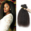 7A Unprocessed Brazilian Kinky Straight Virgin Hair 5Bundles Adina Hair Product Thick Full Hair on Head Natural Hair Extensions