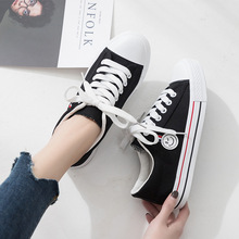 Fashion Women Sneakers 2019 Summer Breathable Canvas Shoes for Girl Students Casual Woman Vulcanized Flats