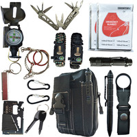 16 in 1 Outdoor survival kit Set Camping Travel Supplies Tactical Multifunction First aid SOS EDC Emergency for Wilderness tool