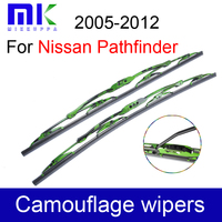 U Hook Wiper Blades For Nissan Pathfinder 2005 2006 2007 2012 Metal Frame Wipers Rubber Windscreen Wipers Auto Car Accessories