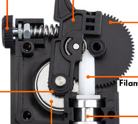 IsMyStore: Trianglelab  titan Extruder for desktop FDM 3D printer reprap MK8 J-head bowden free shipping for ANET MK8 i3 ender 3