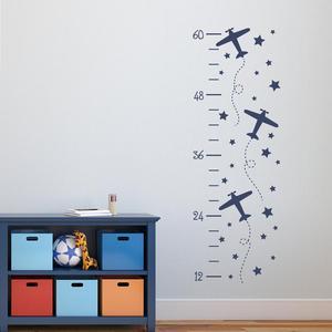 Детская Таблица роста, настенные наклейки, самолет, диаграмма роста, настенные наклейки для детских комнат, детская комната, украшение дома,...