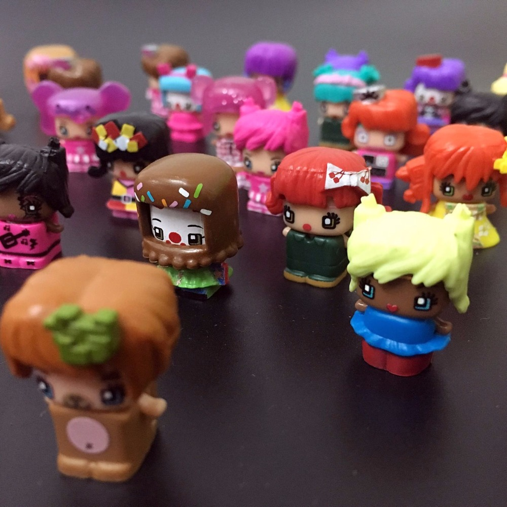 30 Pcs/lot HOT MMMQs My Mini Mixie Qs Anime Dolls Mixieqs Assembling Girl Model Capsule Toys Action Figures mixieqs Gift 2cm