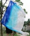 2016 высокое качество дешевые завесы танца женская сексуальная 100% шелк танец живота вуаль оптовая белый + бирюзовый + синий