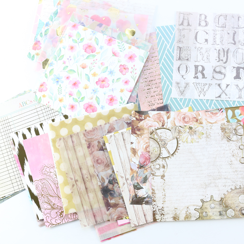 Domikee Cute Cartoon Multi Function Diary Planner Notebooks Decorative Paper Sheets, Candy Scrapbooking DIY Paper Accessories