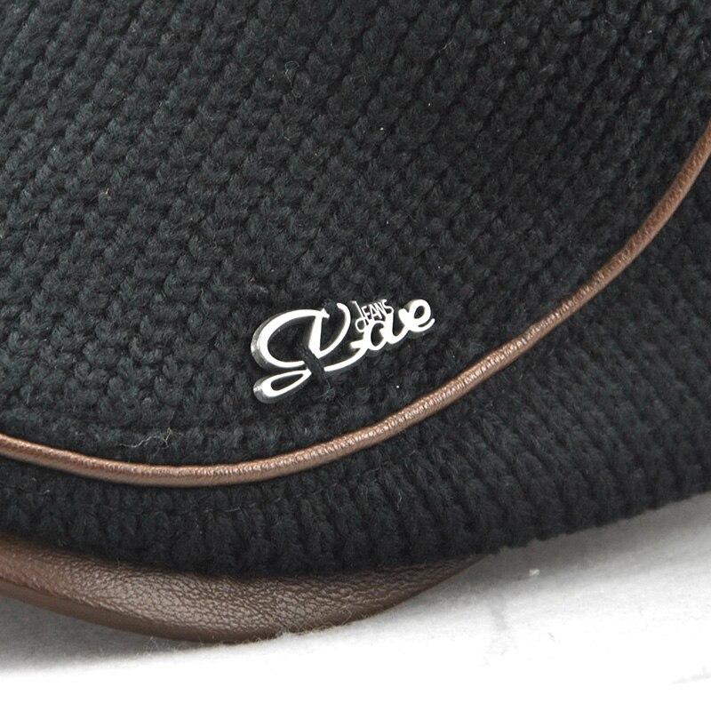 1d169a83d3683 JAMONT haute qualité hiver béret tricoté Casquette Homme en cuir Casquette  plate pour hommes Boina Hombre visière chapeau Planas Snapback chapeau dans  ...
