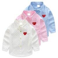 子供のファッションシャツ2017春新モデル服シャツ用ロングスリーブ男の子綿ターン