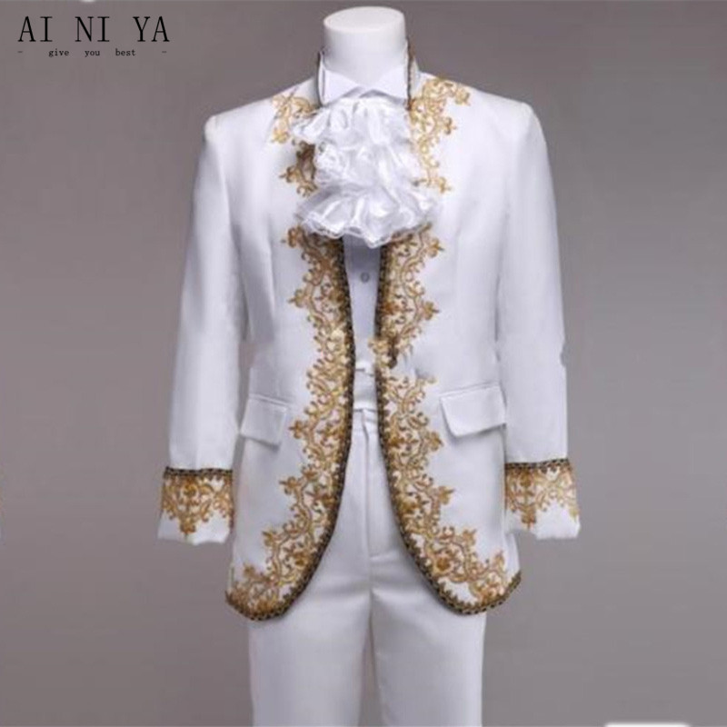 New custom men 's suits Vintage Wedding Men Suits Handmade Embroidery Groom Tuxedo Best Groomsmen Suit