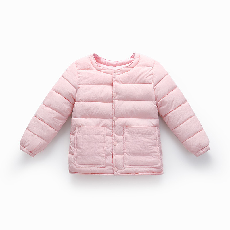 baby boys girls winter Double pocket Jacket Children Casual Windbreaker Coats Baby Warm Clothes Lightweight down jacket