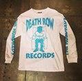3125C Death Row Records Bomber Man Long Sleeve Tee Top Autumn Kanye West Hip Hop Skateboards Hoody Shark Palace Sweatshirts