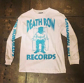 A Death Row Records 3125C Bomber Man Camiseta de Manga Comprida Top Outono Kanye West Hip Hop Tubarão Palácio Skates Capuz Camisolas