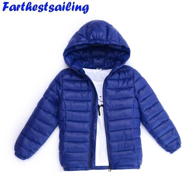 nueva selección color atractivo ventas al por mayor Abrigo de abrigo para niños otoño invierno Bebé niñas chaquetas  ultraligeras bebé cálido Parkas gruesa ropa con capucha