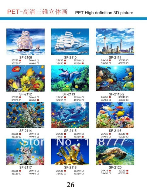 HD 3D stereoscopic paintings/3D picture/size30*40/Retail orwholesale /2120sea turtle