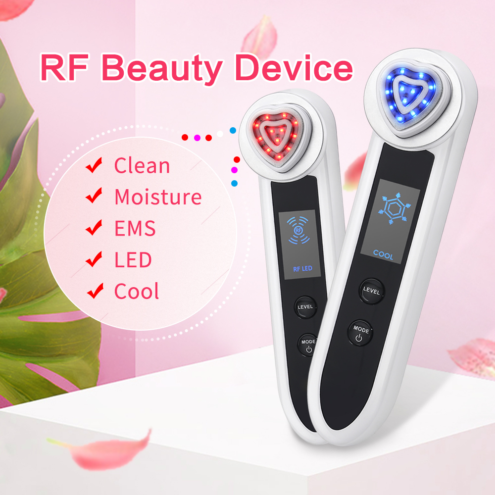 RF Radio Frequency Facial Machine Portable EMS Beauty for Skin Rejuvenation Wrinkle Removal Skin Tightening Anti