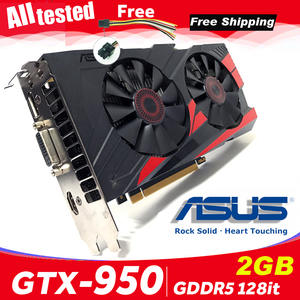 Asus GTX-950-OC-2GB GT950 GTX950 2G D5 DDR5 128 Bit nVIDIA Graphics Cards PCI 3.0