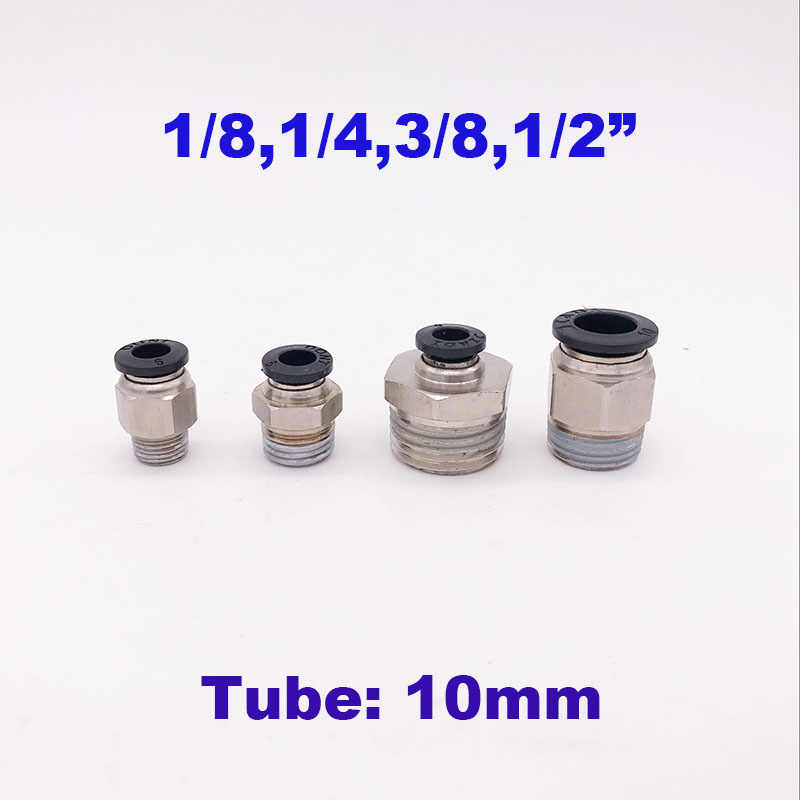 """Thread 1//4/"""" bsp hose 3//8 inch pipe connector air fitting 10 mm"""