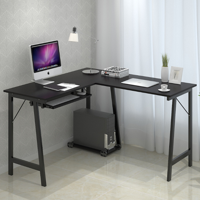 One Hundred Million Of Simple And Stylish Modern Minimalist Corner Desk Home Desktop Computer Double