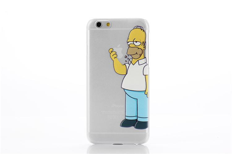 Transparent Simpson case cover TPU soft cell phone cases covers For iPhone 5 5S 6 6S 6Plus 7