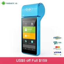 Touch Screen Display 4G WIFI Bluetooth IC Card Reader Magnetic Card Reader NFC Android POS Machine
