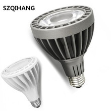 DHL Free Shipping COB PAR30 LED Bulb Light 30W E27 indoor Embedded Spot Lights Spotlights White/Gray Shell AC85-265V