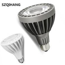где купить DHL Free Shipping COB PAR30 LED Bulb Light 30W E27 indoor Embedded LED Spot Lights Spotlights White/Gray Shell AC85-265V по лучшей цене