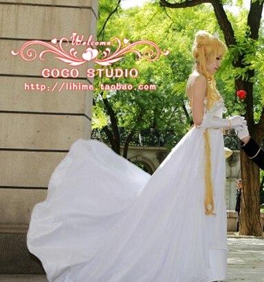 Free shipping Sailor Moon Princess Serenity Tsukino Usagi Dress Cosplay Costume Wedding Gown for party/women