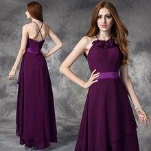 Cheap Purple Front Short Long Back Bridesmaid Dresses New High Quality  Straps Back Party Dress Custom Size robe de soriee