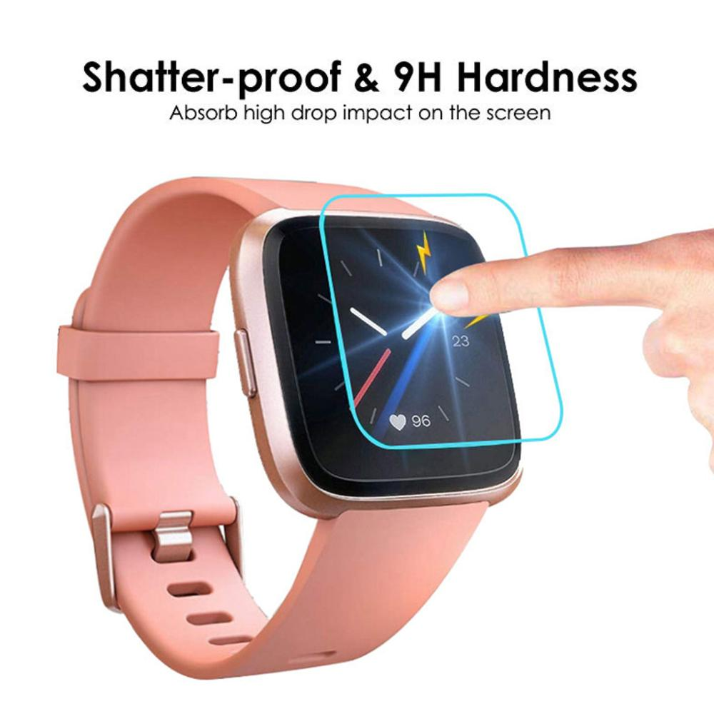 3PCS/PACK Tempered Glass on for Fitbit Versa Lite Screen Protector Smart Watch Protective Glass Bubble Free Easy To Install Film(China)