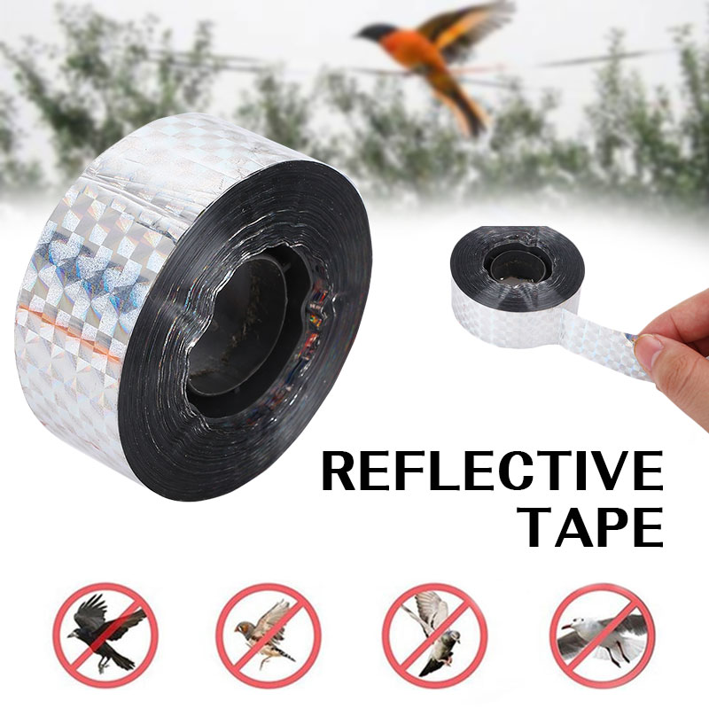 Anti-Bird Scare Tape Repellent Pigeons Animal Repeller Ribbon Deterrent Tapes Garden Pset Control Garden Supply Anti Bird Tape