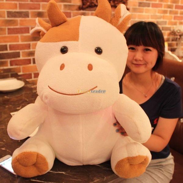 Fancytrader 24 ''/60 cm belle peluche douce peluche Animal géant vache à lait jouet, beau cadeau pour les enfants, livraison gratuite FT50382