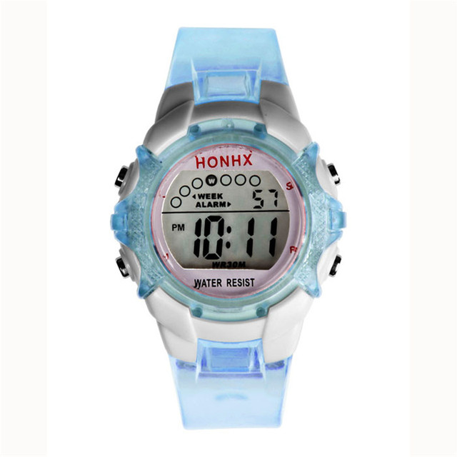 Aimecor 2018 New Boys Girls Waterproof Children Digital LED Sports Quartz Alarm Date  Wrist Watch Dropshiping