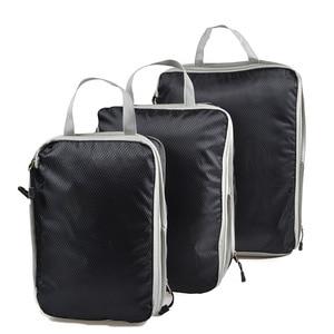Image 3 - Sac de rangement de voyage de 3 pièces, ensemble de vêtements, organisateur rangé, pochette de valise de garde robe, sac organisateur de voyage, étui, sac demballage Cube de chaussures