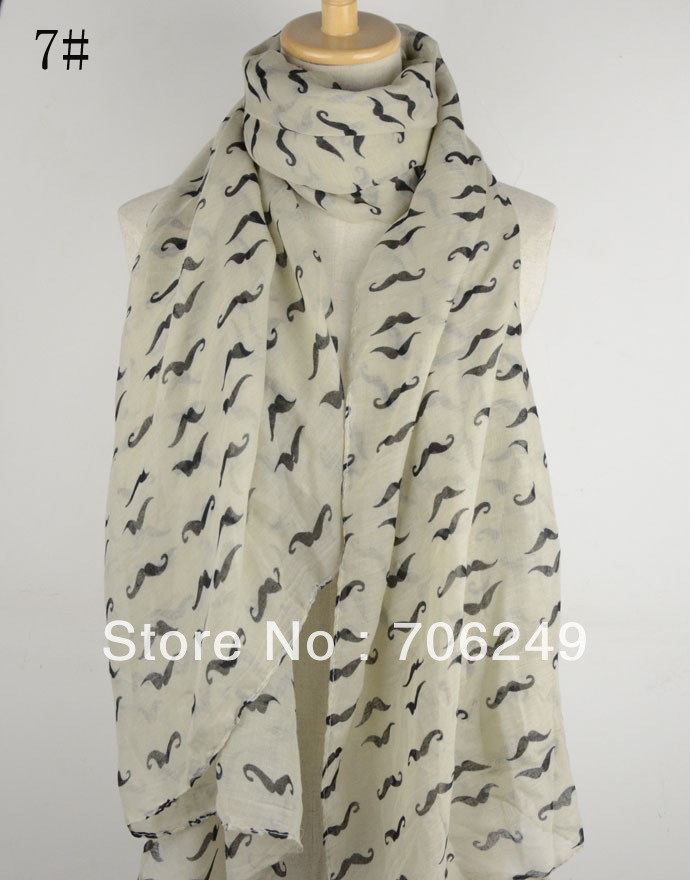 っEnvío libre, bigote bufanda impresa, nuevo diseño 2013, mantón del ...