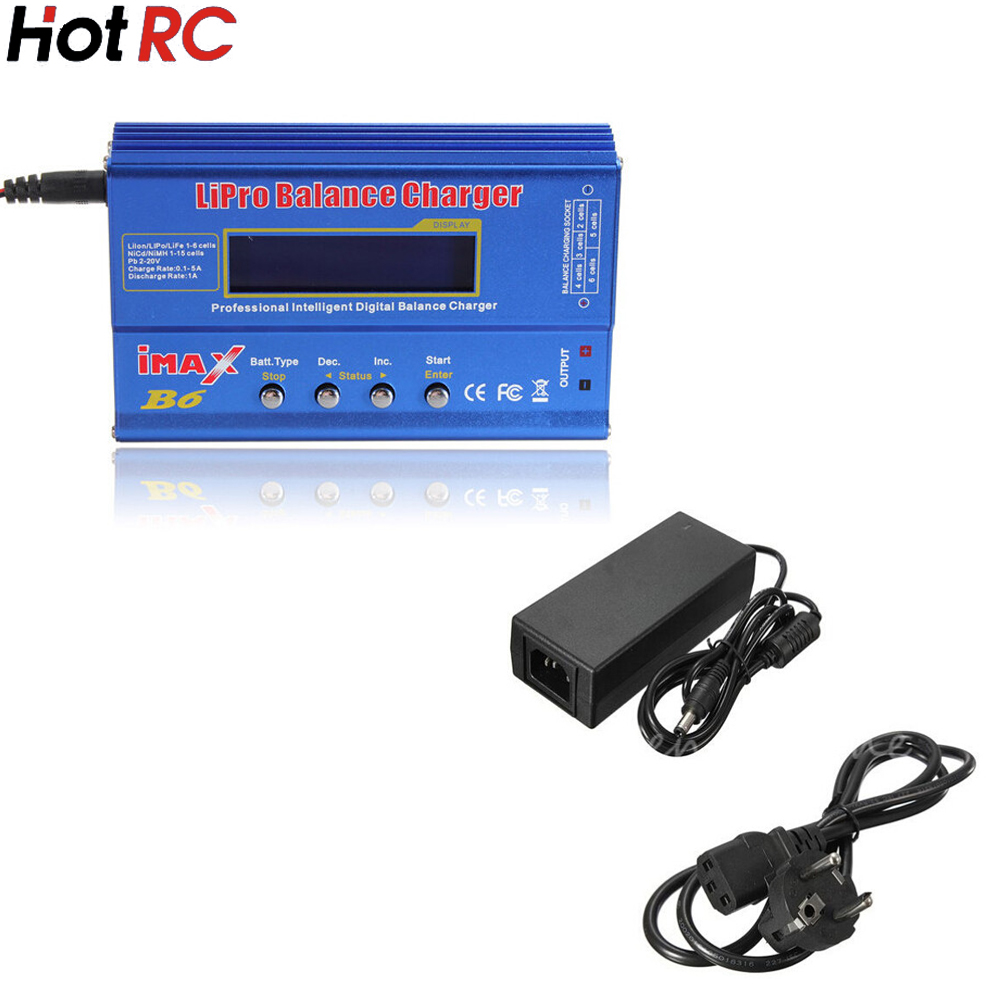 1 set IMAX B6 Digital RC Lipo NiMh Battery Balance Charger+AC POWER 12v 5A Adapter Wholesale hot sale imax b6 ac b6ac lipo 1s 6s nimh 3s rc battery balance charger for rc toys models