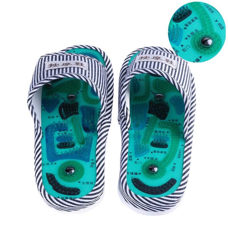 1 par Homens Mulheres Chinelos Pé Massageador Pés Massageador Pé Meridianos de Acupuntura Magnética Sapatos de Saúde de Cuidados de Saúde
