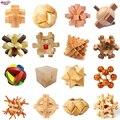 DANNIQITE Классический IQ 3D Деревянный Логические Блокировка Burr Пазлы Разум открывая Игры Игрушки для Взрослых и Детей