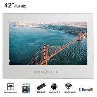 Souria 42 Smart Исчезающие зеркало IP66 волшебный зеркальный рекламный дисплей отель Водонепроницаемый спа ТВ настенного монтажа Android светодиодны