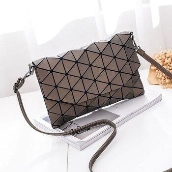 New small solid plaid geometric envelope style handbag 3