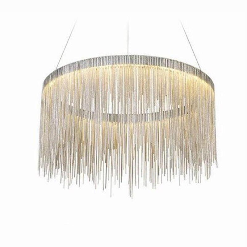 Moderno high-end villa arte personalidade lâmpadas atmosfera simples corrente lustre nordic quarto sala de estar restaurante luzes