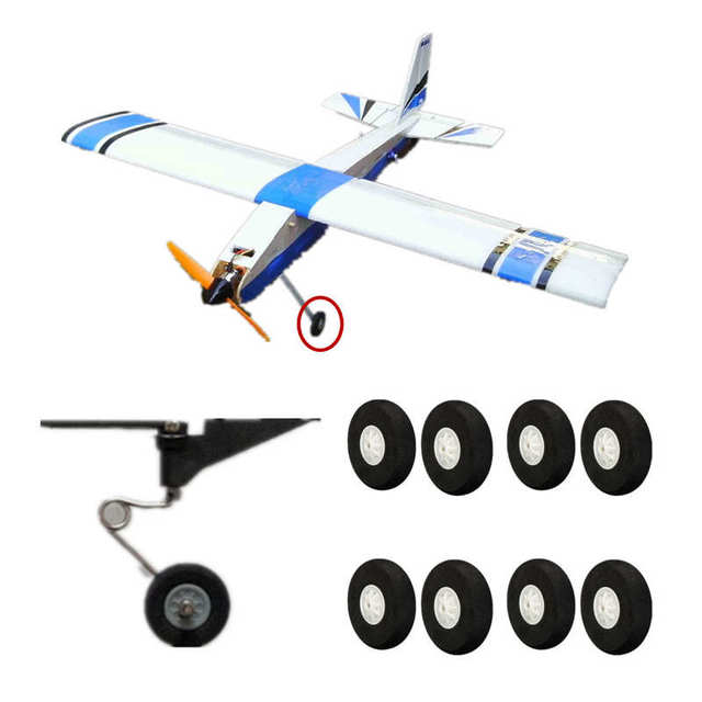 US $5 98 |8PCS 45mm RC Plane Airplane part Super light landing gear sponge  wheel Durable-in Parts & Accessories from Toys & Hobbies on Aliexpress com