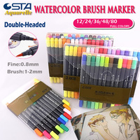 STA Tombow Dual Brush Fine Pen Watercolor Art Markers Assorted Tips For Blending Water Coloring Brush